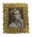 Resin photo frame golden 20x25 cm