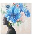 Africana con tocado de flores 1