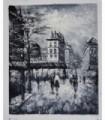 """Parisienne black and white """"Burnett"""" - Oil on canvas"""