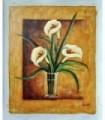 """Oil Vase with flowers - """"Rasitter"""" 3"""