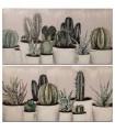 Set 2 cuadros lienzo 120x60 cm cactus