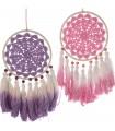 Set of 2 fuchsia/purple crochet dream catchers