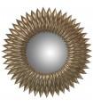 Espejo resina plateado ›51 cm