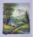"Classical landscape ""Burns"" 3 - Oil on canvas"