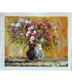 Vaso de flores impressionista 1 - Óleo sobre tela