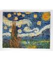 Noite estrelada - Pintura impressionista - Óleo sobre tela