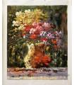 Impressionist flowers vase 3 - Oil on canvas
