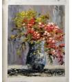 Vaso de flores impressionista 4 - Óleo sobre tela