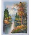 "Classical landscape ""Burns"" - Oil on canvas"