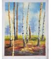 "Poplars ""K. Ruth"" - Oil on canvas"