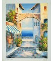 Recanto Mediterrâneo 1 - Óleo sobre tela