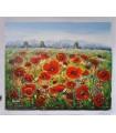 "Oil painting ""Rasitter"" - Field of poppies"