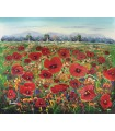 "Oil painting ""Rasitter"" 2 - Field of poppies"