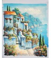 """Balconies to the sea """"W. Reynold"""" 1 - Oil on canvas"""