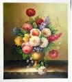 """Vase mit klassischen Blumen """"Gibson"""" - Öl auf Leinwand"""