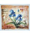 "Pintura a óleo ""Karl"" 3 - Flores e Borboletas - Óleo sobre tela"